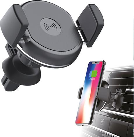 Soporte cargador para smartphones en rejilla coche